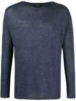 Roberto Collina fine-knit long-sleeve jumper - Blue