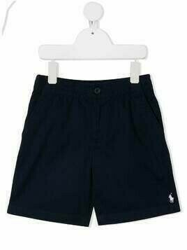 Ralph Lauren Kids poplin shorts - Blue