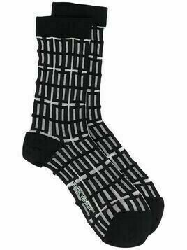 Henrik Vibskov window-pattern socks - Black