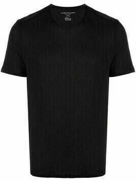 Majestic Filatures V-neck linen-blend T-shirt - Black