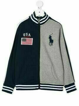 Ralph Lauren Kids two-tone logo jacket - Blue