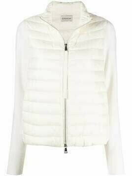 Moncler padded chest jacket - White