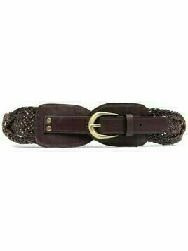 Mes Demoiselles interwoven leather belt - Brown