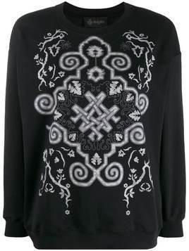 Mr & Mrs Italy digital print boxy fit sweatshirt - Black