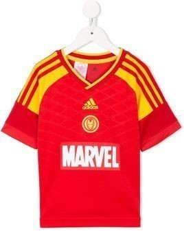 Adidas Kids Marvel Iron Man football set - Red