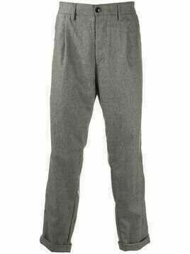 Haikure straight-leg virgin wool trousers - Grey