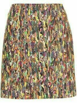 Dries Van Noten Pre-Owned abstract print mini skirt - Yellow