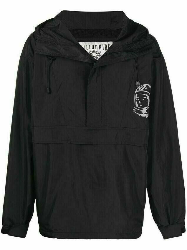 Billionaire Boys Club logo-print hooded jacket - Black