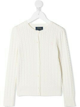 Ralph Lauren Kids cable-knit cardigan - White