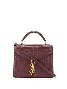 Saint Laurent mini Cassandra crocodile-embossed tote bag - Red