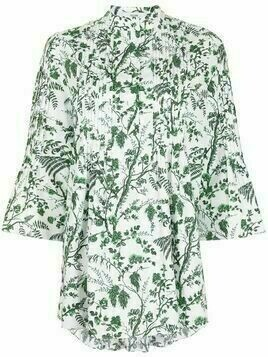 Erdem Wild Fern Botanical-print long-sleeve top - White