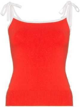 JoosTricot strappy silk blend top - Red