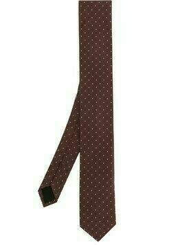 BOSS polka dot print tie - Red