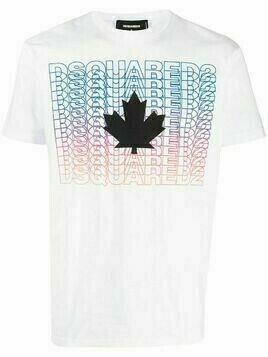 Dsquared2 graphic print cotton T-shirt - White