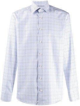Eton slim fit checked shirt - Blue