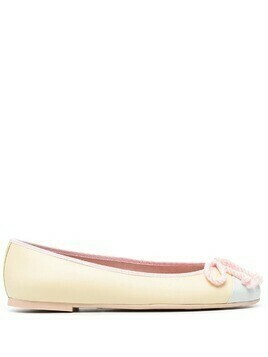 Pretty Ballerinas Sophia tie ballet shoes - Yellow
