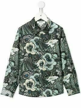 Bonpoint astro-print long-sleeved shirt - Multicolour