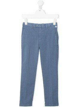 Il Gufo straight-leg chino trousers - Blue