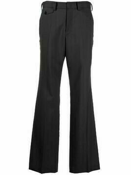 Y's pressed-crease tailored trousers - Grey