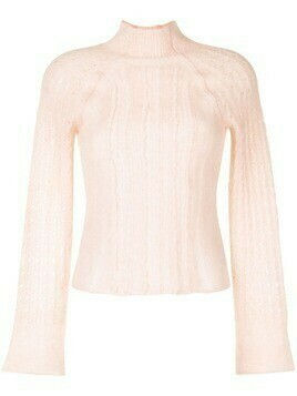 3.1 Phillip Lim long-sleeve knitted jumper - Pink