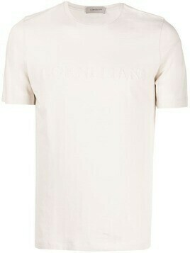 Corneliani knit-applique logo T-shirt - Neutrals