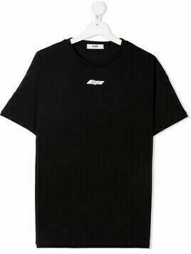Msgm Kids TEEN logo-print T-shirt - Black
