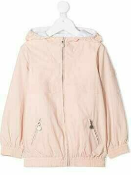 Bonpoint TEEN hooded zip-up jacket - Pink