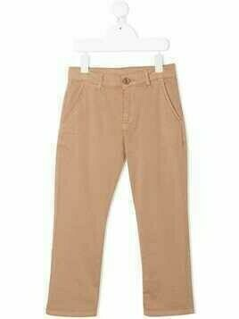 Douuod Kids straight-leg trousers - Brown
