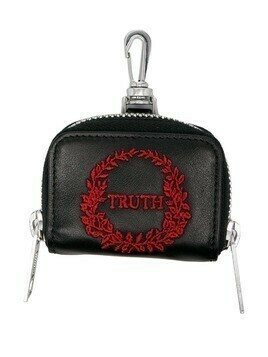 Maison Margiela Truth embroidered mini wallet - BLACK