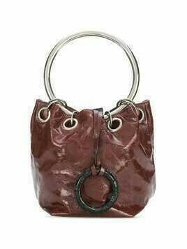 Marni leather bucket bag - Brown