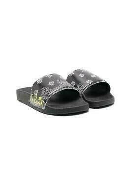 Mc2 Saint Barth Kids Damien bandana slides - Black