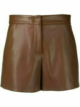 Blanca Vita Sandra faux-leather shorts - Brown