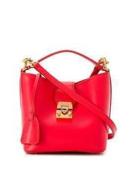 Mark Cross Murphy bucket bag - Red
