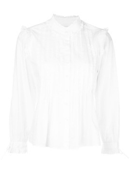 Alex Mill ruffled pleated-bib shirt - White