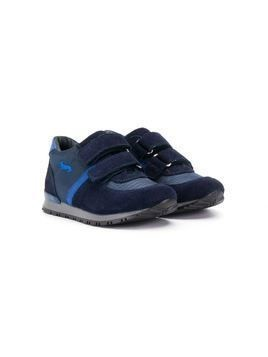 Harmont & Blaine Junior textured touch strap sneakers - Blue