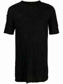 Masnada cotton sleeve-pocket t-shirt - Black