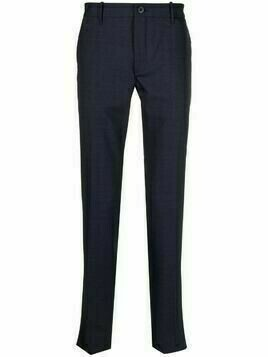 Incotex mid-rise straight-leg trousers - Blue