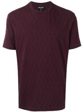 Giorgio Armani raised chevron T-shirt - PURPLE