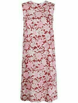 Christian Wijnants daisy-print shift dress - Red
