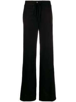 Ann Demeulemeester wide-leg drawstring trousers - Black