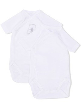 Absorba short-sleeve babygrow set - White