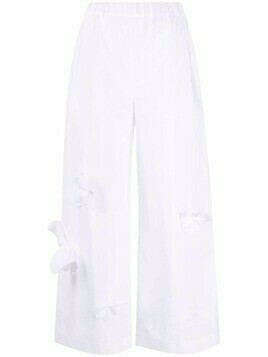 Vivetta butterfly applique palazzo trousers - White