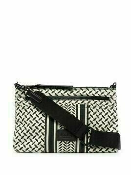 Lala Berlin Zabiana geometric-print crossbody bag - Neutrals
