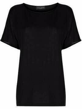 Roberto Collina boat neck cashmere-blend top - Black