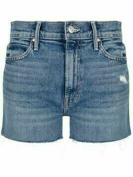 MOTHER Cowboys Dont' Cry denim shorts - Blue