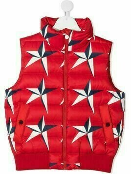 Perfect Moment Kids star-print quilted gilet - Red