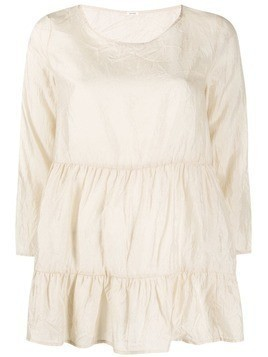 Apuntob silk tiered top - NEUTRALS