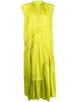 Christian Wijnants tiered silk maxi dress - Green