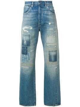 Levi's Vintage Clothing distressed jeans - Blue