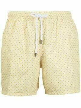 Barba embroidered swim shorts - Yellow